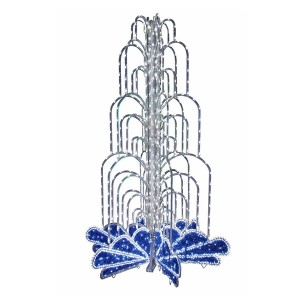 LED фонтан, высота 4.0, диаметр 2.5 метра (с контроллером) Синий