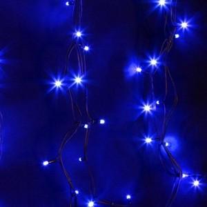 Гирлянда модульная  Дюраплей LED  12м  120 LED  черный каучук Синий