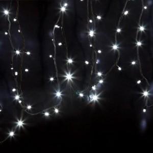 Гирлянда модульная  Дюраплей LED  12м  120 LED  черный каучук Белая