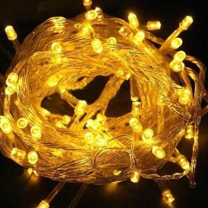 Гирлянда модульная  Дюраплей LED  20м  200 LED  белый каучук  Желтая