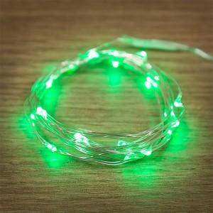 Гирлянда Роса, 2 м, 20 LED, цвет зеленый работа от 2 батареек CR2032 в комплекте