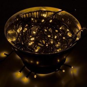 Гирлянда Твинкл Лайт 10 м, черный ПВХ, 100 LED, 230V IP65 цвет желтый