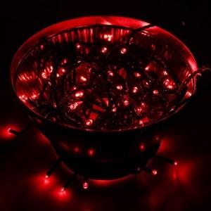 Гирлянда Твинкл Лайт 10 м, черный ПВХ, 100 LED, 230V IP65 цвет красный