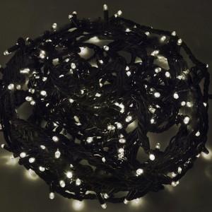 Гирлянда Твинкл Лайт 20м, черный КАУЧУК, 240LED, 230V IP67 цвет белый