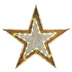 Фигура Звезда бархатная 81LED с постоянным свечением желтого/белого цвета 61см, IP65