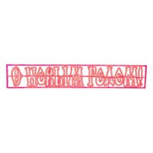 Надпись печатная светодиодная С Новым Годом красная 210x35см IP65