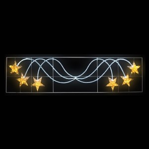 Фигура световая Брызги звезд 360LED 24м дюралайта, белый/желтый, размер 400x100см IP65