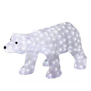 Акриловая светодиодная фигура Белый медведь 81х41х45см 270LED 10W 24V IP44