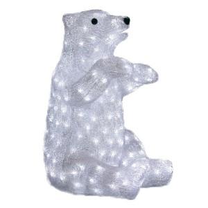 Акриловая светодиодная фигура Белый медведь 36х41х53см 200LED 8W 24V IP44
