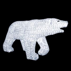 Акриловая светодиодная фигура Белый медведь 175x100см 1976LED 230W 24V IP44 от -40 до +50