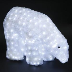 Акриловая светодиодная фигура Белый медведь 55x40см 752LED 45W 24V IP44 от -40 до +50