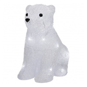 Акриловая светодиодная фигура Медвежонок 20LED 17х24х29см Питание от 3AA (не входят в комплект)