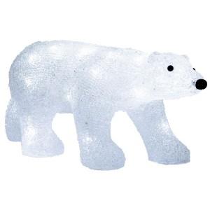 Акриловая светодиодная фигура Медведь 24LED 34.5х12х17см Питание от 3AA (не входят в комплект)