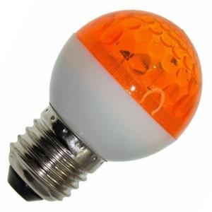 Лампа строб e27 D50мм оранжевая