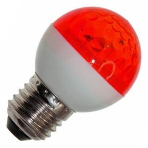 Лампа строб e27 D50мм красная