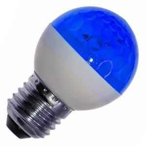 Лампа строб e27 D50мм синяя