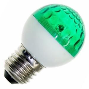 Лампа строб e27 D50мм зеленая