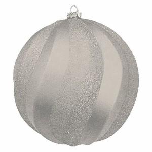 Елочная фигура Шар Вихрь, 20 см, цвет серебряный