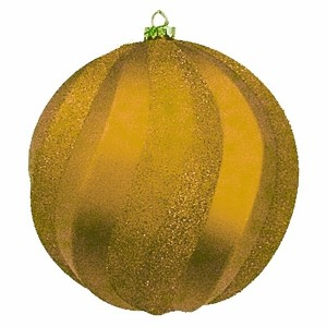 Елочная фигура Шар Вихрь, 20 см, цвет золотой
