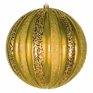 Елочная фигура Арбуз, 25 см, цвет золотой