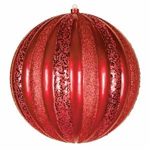 Елочная фигура Арбуз, 25 см, цвет красный