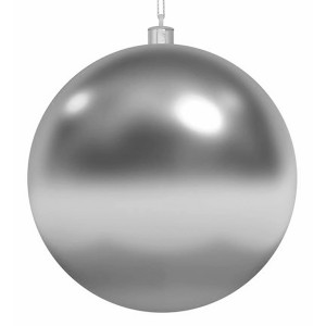 Елочная фигура Шар, 15 см, цвет серебряный