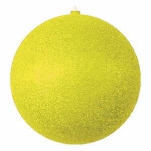 Елочная фигура Шар с блестками, 30 см, цвет золотой