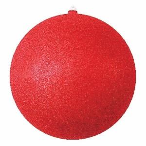 Елочная фигура Шар с блестками, 30 см, цвет красный