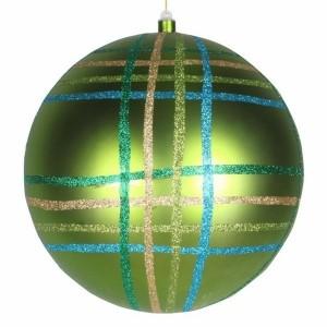 Елочная фигура Шар в клетку 30 см, цвет зеленый мульти
