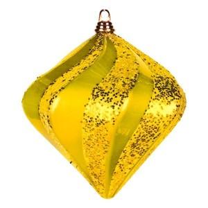 Елочная фигура Алмаз, 15 см, цвет золотой