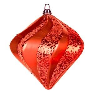 Елочная фигура Алмаз, 15 см, цвет красный