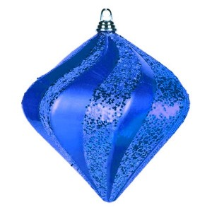 Елочная фигура Алмаз, 15 см, цвет синий