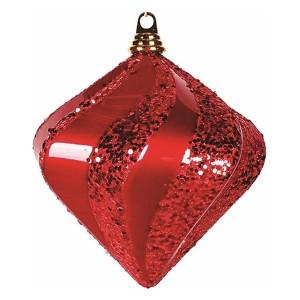 Елочная фигура Алмаз, 20 см, цвет красный