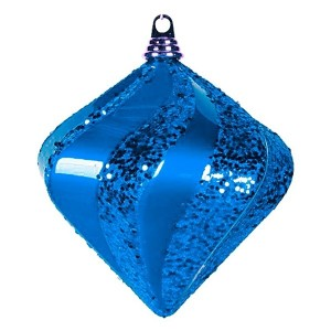Елочная фигура Алмаз, 20 см, цвет синий