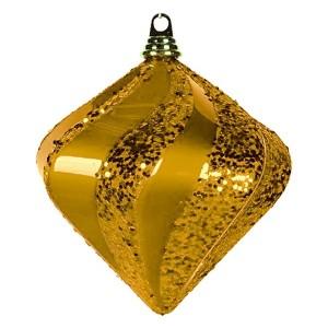 Елочная фигура Алмаз, 20 см, цвет золотой