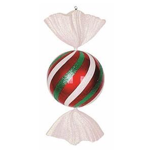 Елочная фигура Конфета, 94 см, цвет белый, красный и зеленый