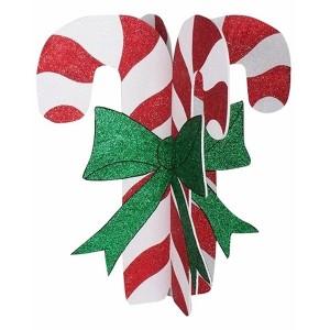 Елочная фигура Карамельная палочка 3D, 89*78 см, цвет белый/красный