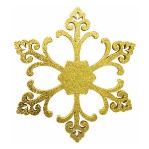 Елочная фигура Снежинка Морозко, 66 см, цвет золотой