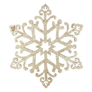 Елочная фигура Снежинка Снегурочка, 81 см, цвет золотой