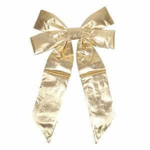 Елочная фигура Бантик 45 см, цвет золотой