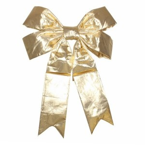 Елочная фигура Бантик 91 см, цвет золотой