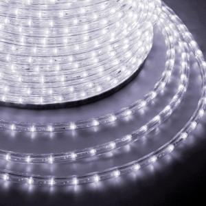 Светодиодный дюралайт 2W белый 24 LED/1,6Вт/м, постоянное свечение, D10мм, бухта 100м