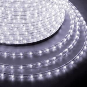 Светодиодный дюралайт 3W белый 36 LED/2,4Вт/м, свечение с динамикой, D13мм, бухта 100м