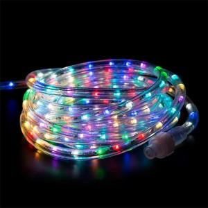Светодиодный дюралайт 2W RGB 36 LED, свечение с динамикой, D13мм, бухта 6м