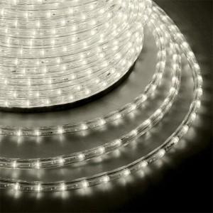 Светодиодный дюралайт 2W теплый белый 24 LED/1,6Вт/м, эффект мерцания, D13мм, бухта 100м