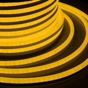 Гибкий Неон LED SMD желтый 15х26мм 120LED/9Вт/м, IP65 бухта 50м