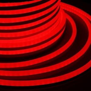 Гибкий Неон LED SMD красный 15х26мм 120LED/9Вт/м, IP65 бухта 50м