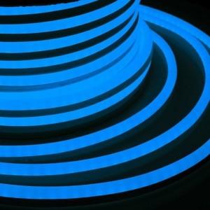 Гибкий Неон LED SMD синий 15х26мм 120LED/9Вт/м, IP65 бухта 50м
