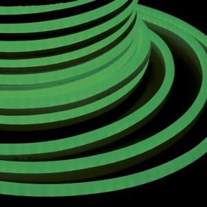 Гибкий Неон LED SMD зеленый 15х26мм 120LED/9Вт/м, IP65 бухта 50м