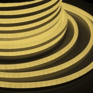 Гибкий Неон LED SMD теплый белый 15х26мм 120LED/9Вт/м, IP65 бухта 50м